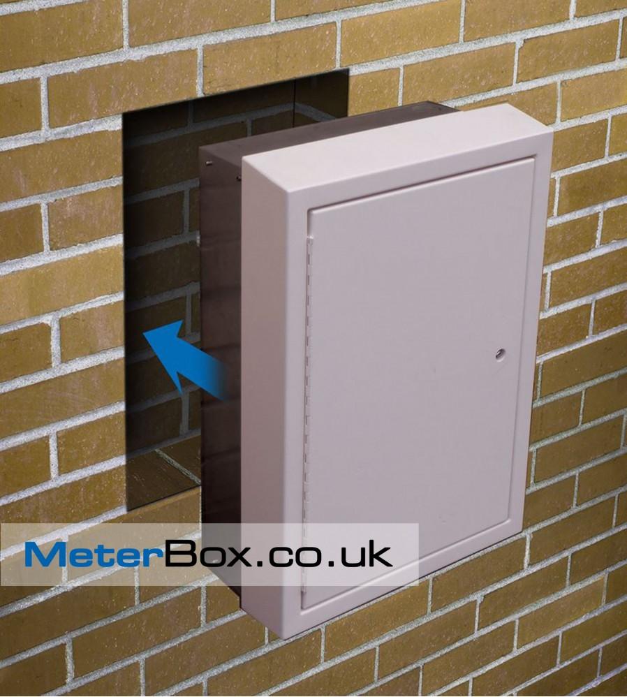 Semi Recessed Medium Meter Box